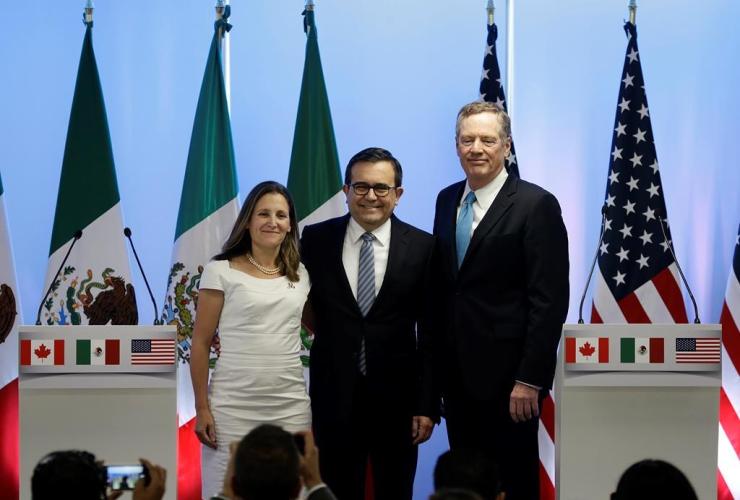 Chrystia Freeland, Ildefonso Guajardo Villarreal, Robert Lighthizer,