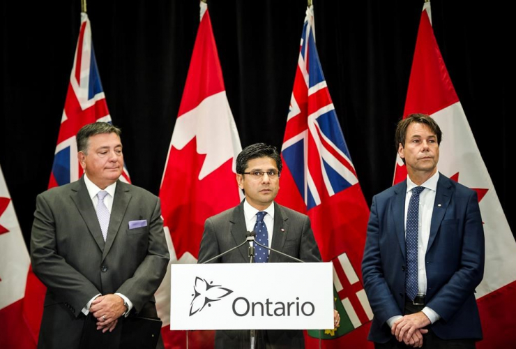 Attorney General, Yasir Naqvi, Minister of Finance, Charles Sousa, Minister of Health and Long-Term Care, Eric Hoskins