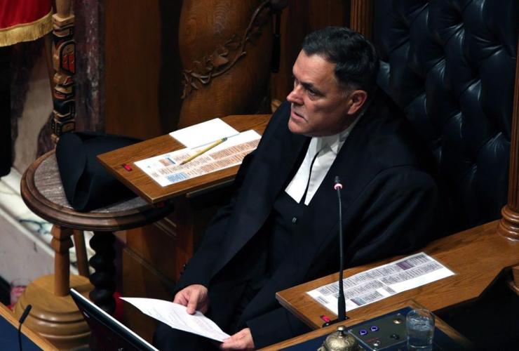 Speaker, legislature, Darryl Plecas, legislative assembly, Victoria, B.C.,