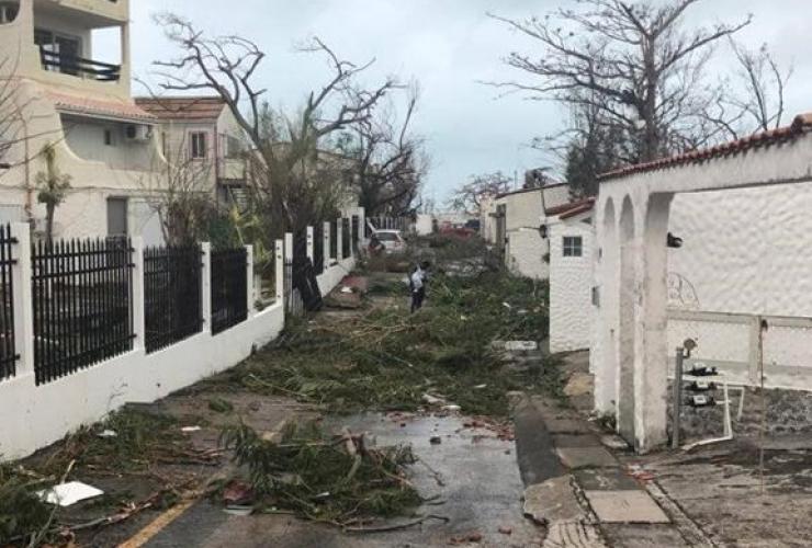 Debris, scattered, streets, St. Maarten,
