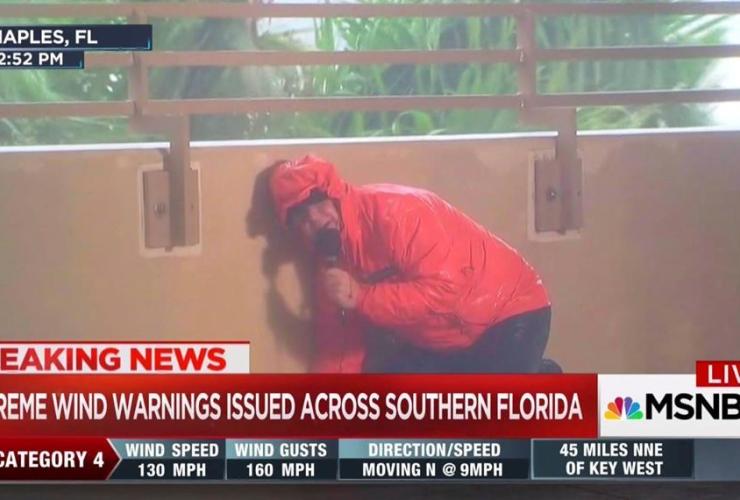 MSNBC, Kerry Sanders, reporting, Hurricane Irma, Naples. Fla.,