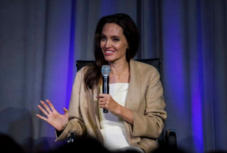 Angelia Jolie, Women in The World conference, Toronto, First They Killed My Father
