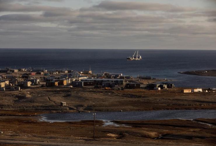 cargo ship, Gjoa Haven, Nunavut,