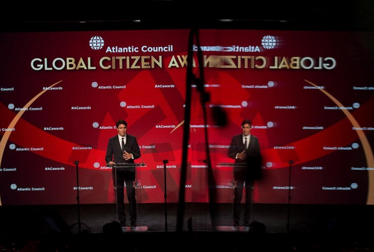 Canadian Prime Minister, Justin Trudeau, Atlantic Council Global Citizen Awards, Gala dinner, Intrepid Sea, Air & Space Museum, New York City