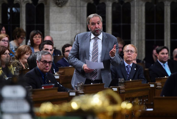 NDP Leader, Tom Mulcair, House of Commons, Parliament Hill, Ottawa
