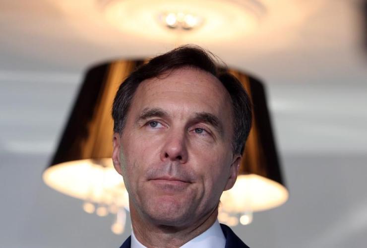 Finance Minister Bill Morneau, news conference, Gatineau, Quebec,