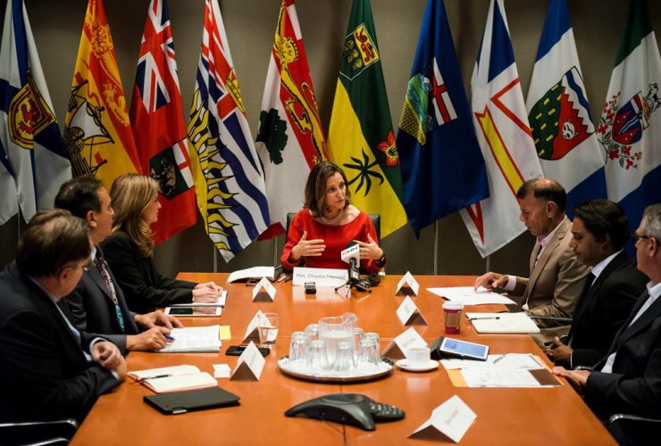 Minister of Foreign Affairs Chrystia Freeland, NAFTA council, North American Free Trade Agreement,