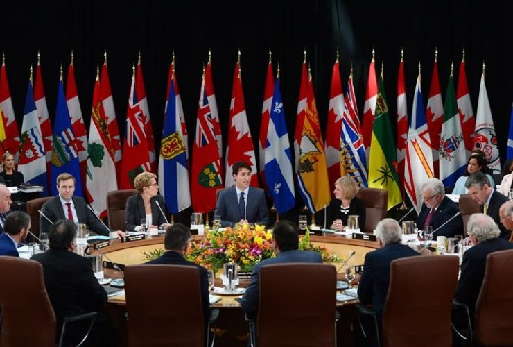 Prime Minister Justin Trudeau, indigenous leaders,
