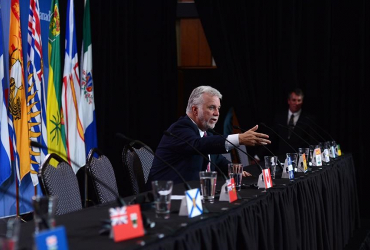Quebec Premier Philippe Couillard, First Ministers meeting,