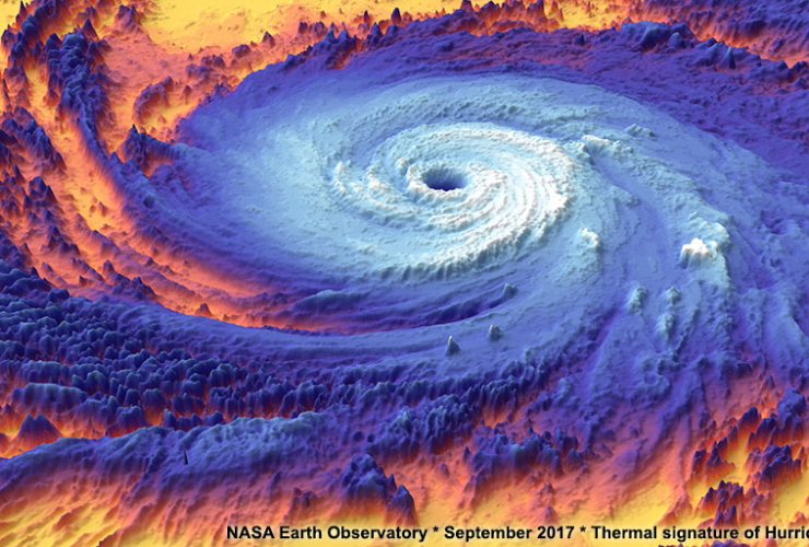 NASA: thermal signature of a hurricane