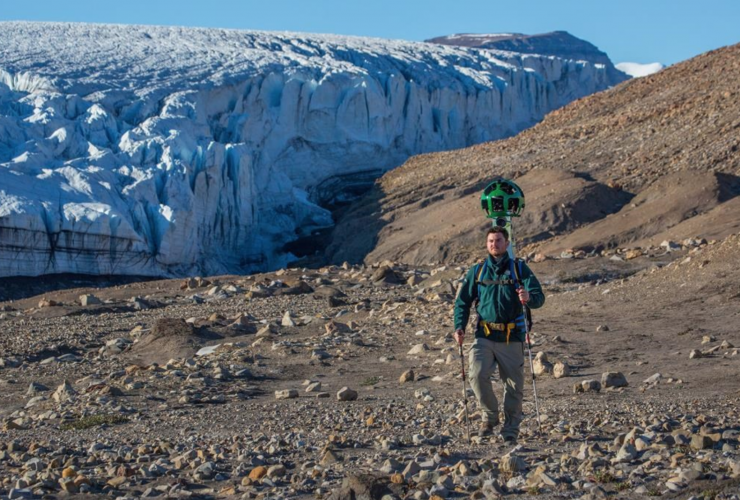 Google, Google Earth, Ellesmere Island, Air Force Glacier
