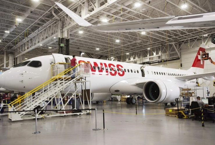Bombardier, executives, compensation, corporate welfare, Montreal, protest, Boeing, CSeries