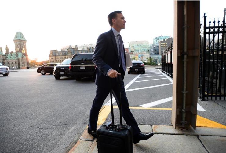 Finance Minister Bill Morneau, Parliament Hill, Ottawa