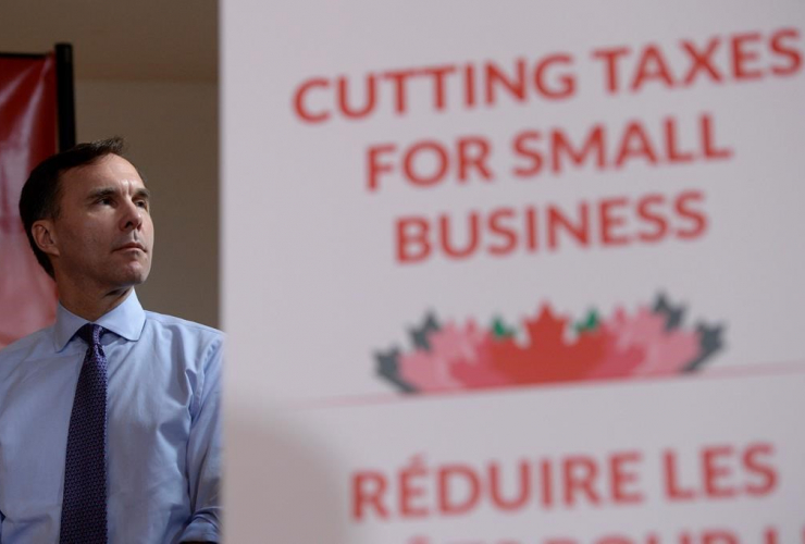 Finance Minister, Bill Morneau, press conference, tax reforms, Stouffville,