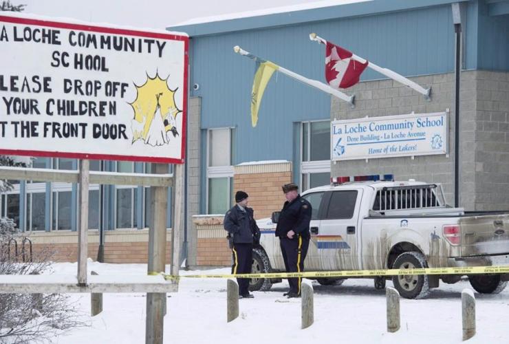 RCMP, La Loche Community School, La Loche, Sask.,