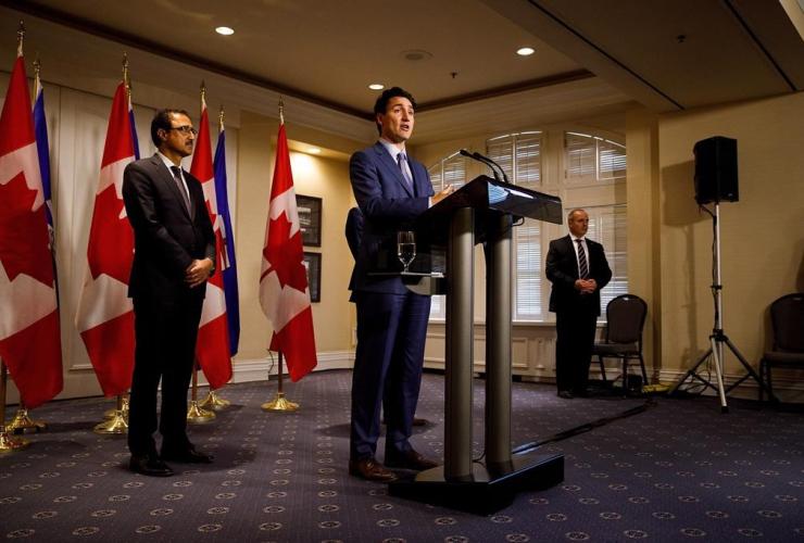 Prime Minister Justin Trudeau, Fairmont Hotel Macdonald, Edmonton,