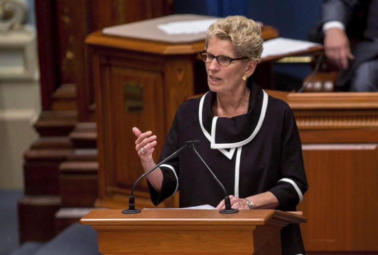Ontario Premier Kathleen Wynne, National Assembly, Quebec City,