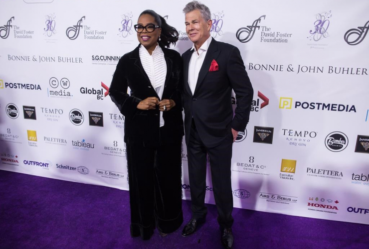 Oprah Winfrey, David Foster, David Foster Foundation, 30th Anniversary, Miracle Gala, Vancouver,