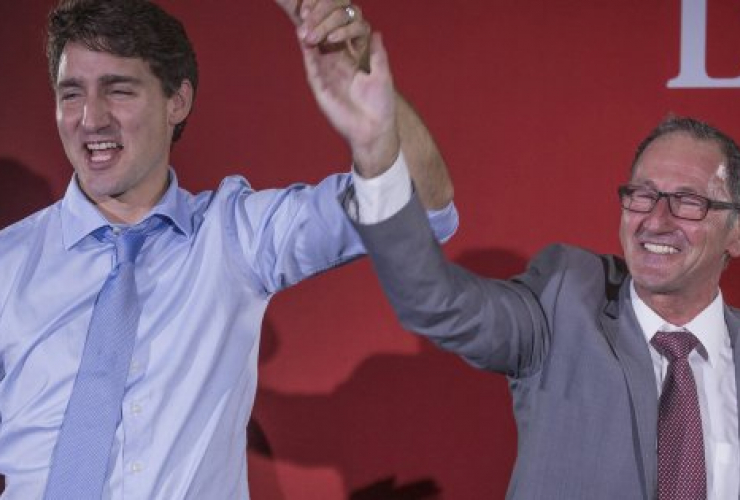 Justin Trudeau, Richard Hébert, Dolbeau-Mistassini, Lac-Saint-Jean, Quebec