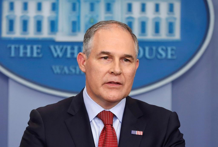 Environmental Protection Agency, administrator, Scott Pruitt, Brady Press, Briefing Room, White House, Washington,
