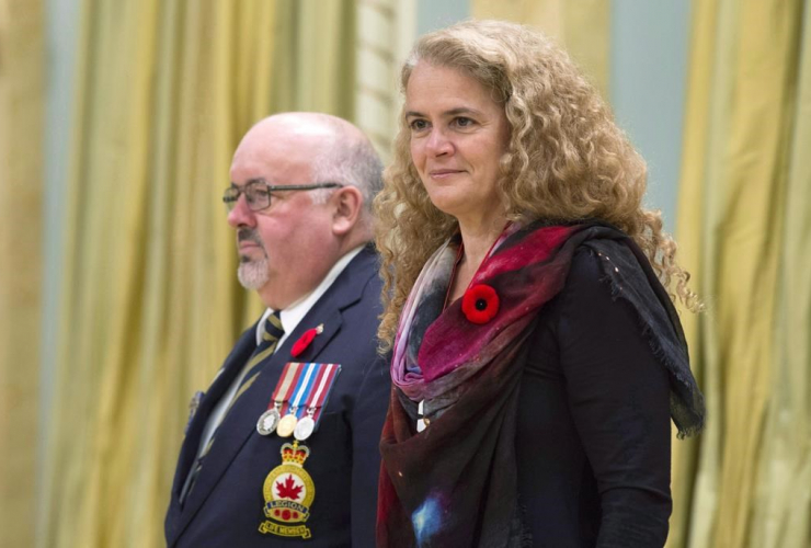 Governor General, Julie Payette, Dominion President of the Royal Canadian Legion, Davi Flannigan, poppy, National Poppy campaign,