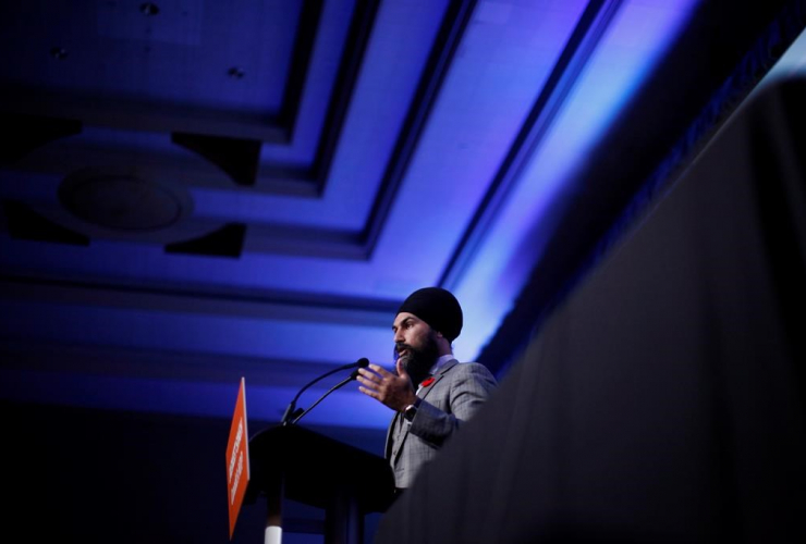 Federal NDP Leader Jagmeet Singh, delegates, supporters, B.C. NDP Convention, Victoria Conference Centre, Victoria,