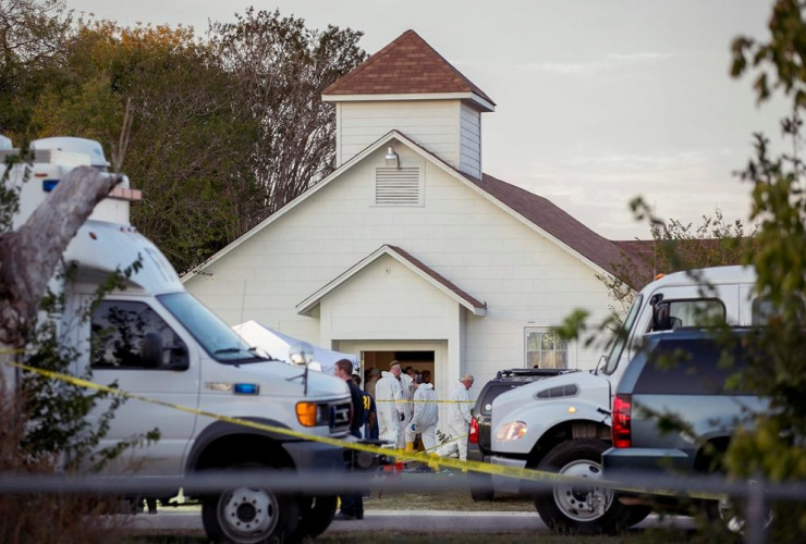 Investigators, mass shooting, First Baptist Church, Sutherland Springs, Texas,