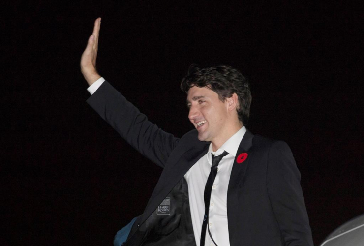 Canadian Prime Minister, Justin Trudeau, government plane, Montreal,