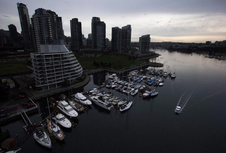 water taxi, marina, condos, False Creek, Vancouver,