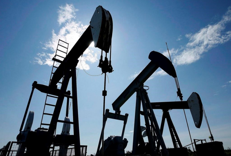 Pumpjacks, crude oil, Halkirk,