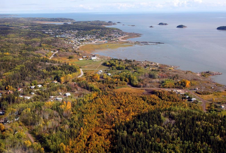 aerial view, Fort Chipewyan,