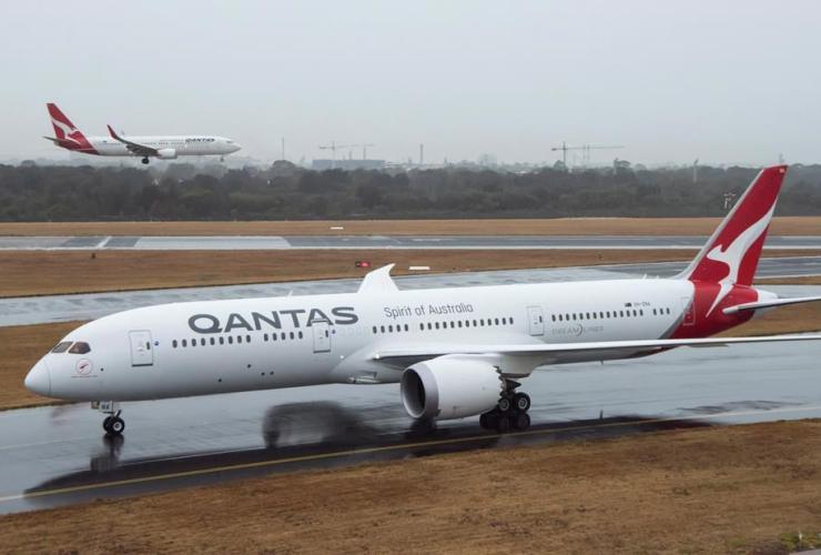 Qantas Dreamliner aircraft,