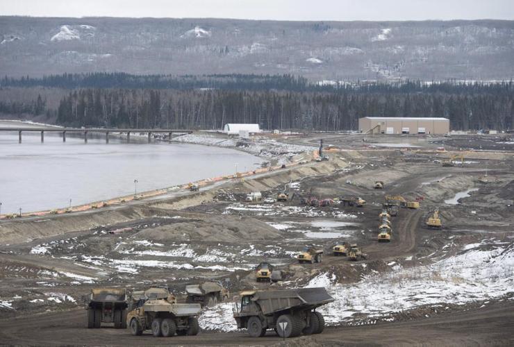 Site C Dam, Peace River, Fort St. John, B.C.,