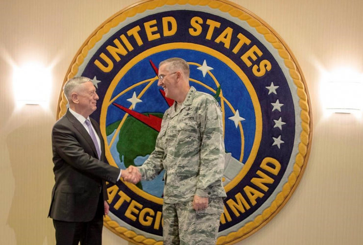 Secretary of Defense, Jim Mattis, John E. Hyten, Strategic Command, Bellevue