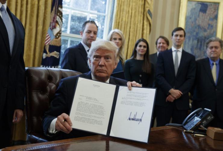 Donald Trump, Keystone XL pipeline, TransCanada, executive order, White House