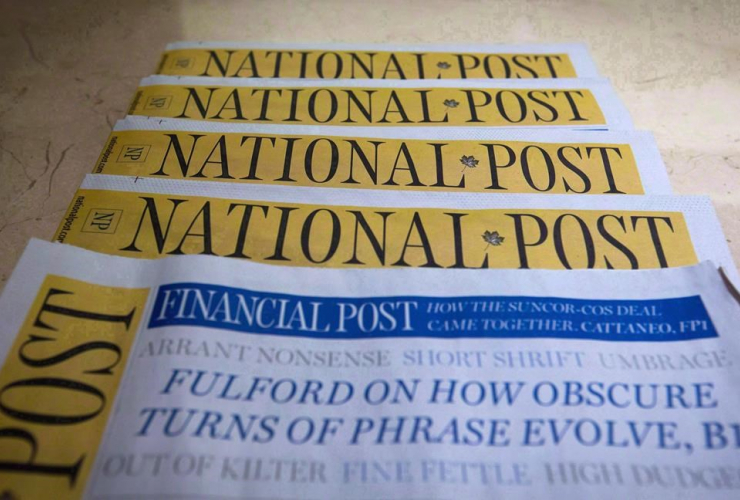 National Post, Postmedia, front page, job losses, journalism