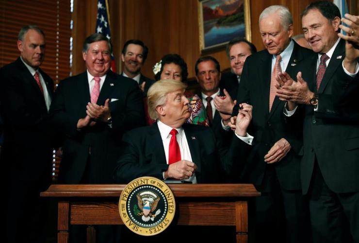President Donald Trump, Sen. Orrin Hatch, R-Utah, Antiquities Executive Order,