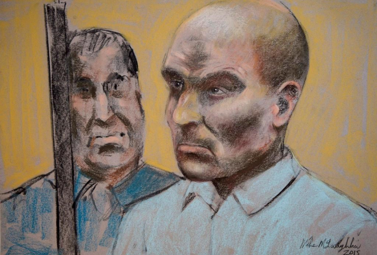 Bertrand Charest, court drawing, bail hearing,