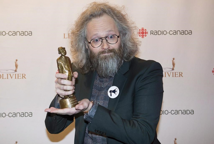 Francois Bellefeuille, trophy, Olivier awards ceremony, Montreal,