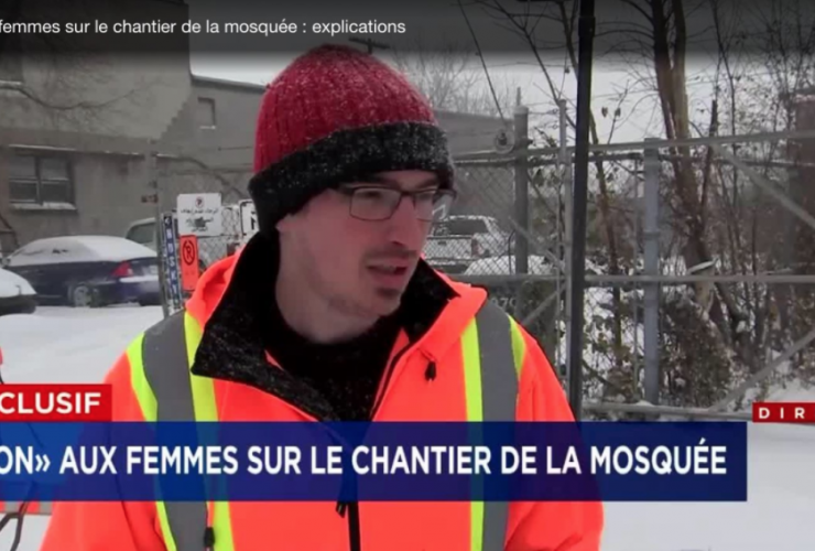 TVA Nouvelles, Montreal, Mosque, construction workers