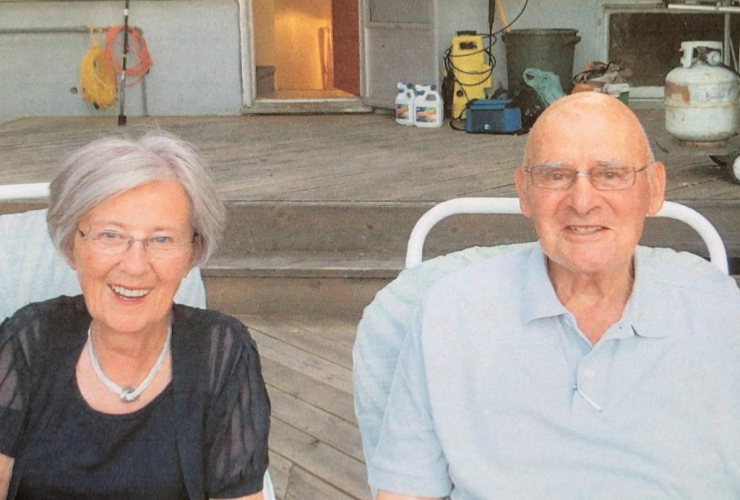 Fred Van Zuiden, right, and his wife Audrey pose in this undated handout photo. Handout photo by Vince Walker