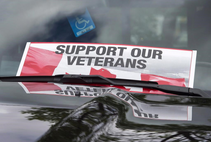sign, placed, truck windshield, Banished Veterans, protest, Veterans Affairs office, Halifax,