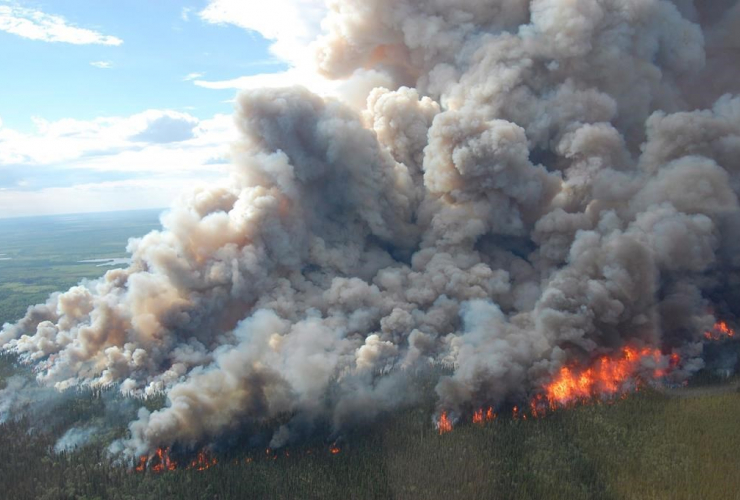 wildfire, boreal forest, Wood Buffalo National Park,