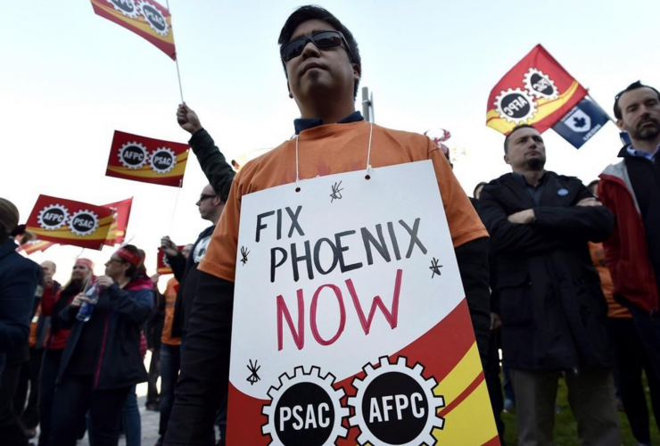 Phoenix pay system, protest,