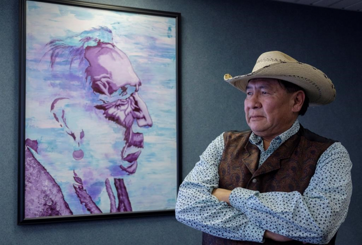 Tsuut'ina Chief, Lee Crowchild, Tsuut'ina elder, Calgary,