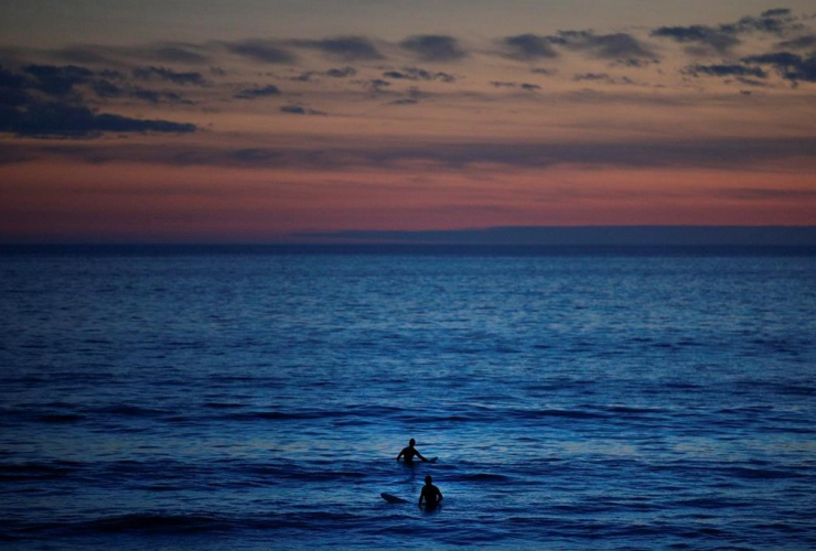 surfers, Pacific Ocean, Sunset Beach, Pacific Palisades,