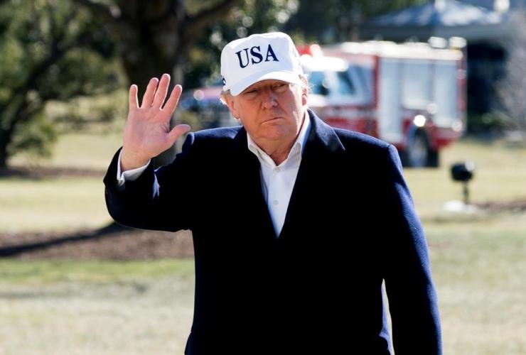 President Donald Trump, South Lawn, White House, Washington,