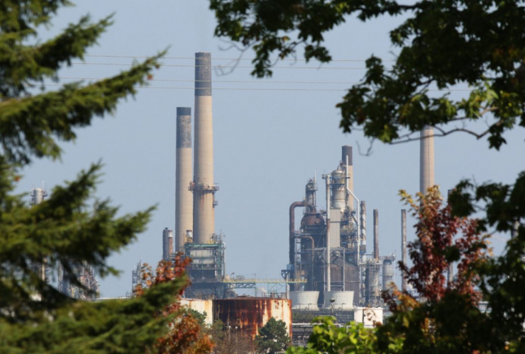 Sarnia, petrochemical plant, industry, pollution