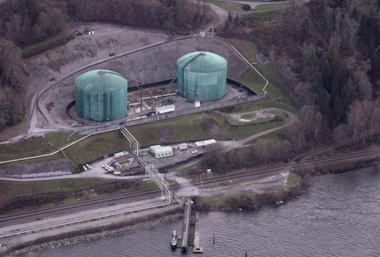 Kinder Morgan, Trans Mountain Expansion Project, Westeridge loading dock, Burnaby,