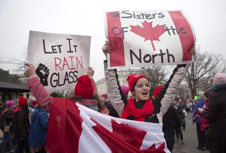 Canadian, Sofia Rizzo, Cathy Rizzo, Toronto, Women's March, Washington,